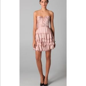 Rebecca Taylor eyelash silk tiered party dress 6